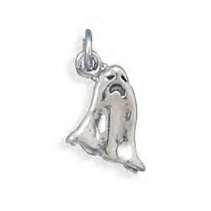 Sterling Silver Halloween Ghost Charm