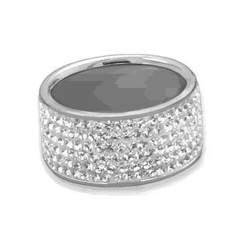 Clear Crystal Band Ring