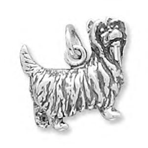 Yorkshire Terrier Sterling Silver Charm