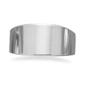Polished Silver Tapered Band Ring