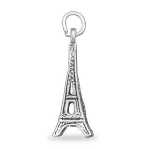 Eiffel Tower Silver Charm