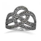 Marcasite Crown Design Ring