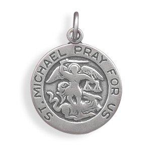 Michael B Jewelry Death Of Sterling Silver Saint Michael Charm