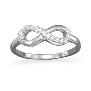 Silver CZ Infinity Ring