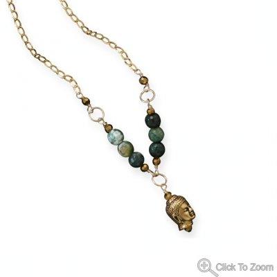 Green Agate Enlightenment Necklace