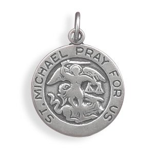 St. Michael Sterling Silver Charm