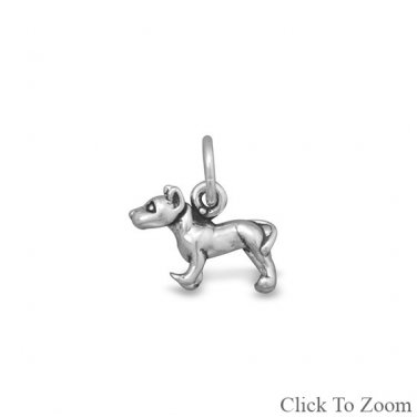 Sterling Silver Pit Bull Charm