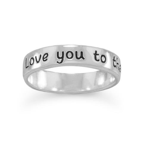 "Ring with ""Love you to the moon and back"""