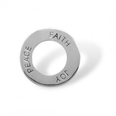 Rhodium Plated Joy, Peace & Faith Pendant