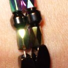 Magnetic hematite multi colored (rainbow/Iris) bracelet men's or woman's