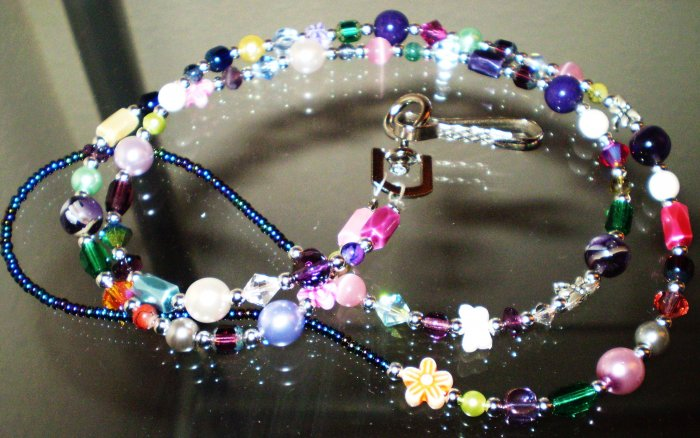 Lanyard, badge holder these are BEAUTIFUL & ONE OF A KIND! CUSTOM COLORS AVAIL!