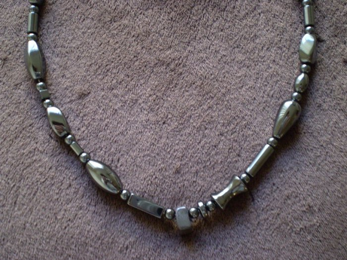 Men's or Women's hematite necklace custom avail