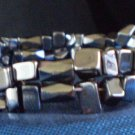 Black men's or Women's bracelet! Magnetic hematite clasp, hematite chips & black magnetic Hematite.