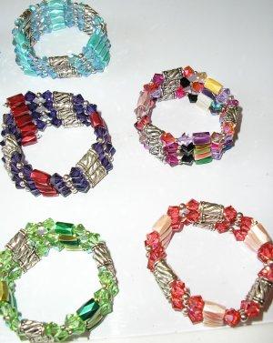 "Genuine Swarovski Crystal ""wrap"" (anklet, choker, bracelet necklace)"