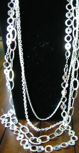silver layered necklace custom welcome