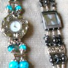 Pick your watch either black hematite with silver or Turquoise with silver