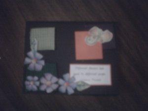 Black greeting card.