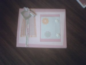 Pink greeting card.