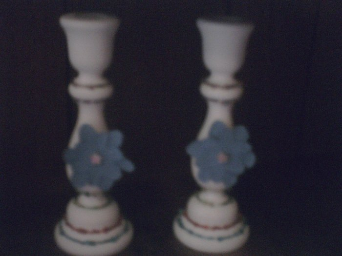 Blue Flower Candle Holder.