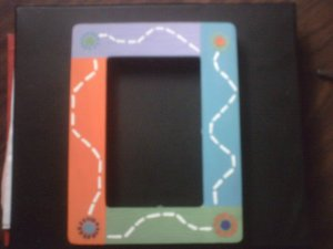 Colorful Flower Picture Frame.