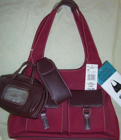 Red cargo purse