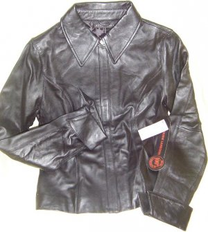 Black leather jacket (small)Free shipping!!!