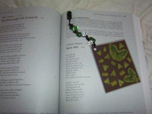butterfly bookmark w/ glass beads & w/ bonus item!