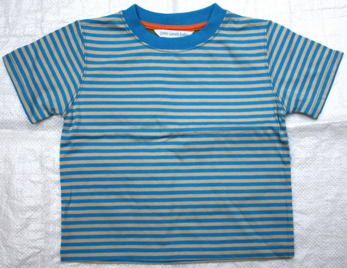 JOHN LEWIS Dark Blue Stripes T- Shirt (RM25.90) LAST PIECE!