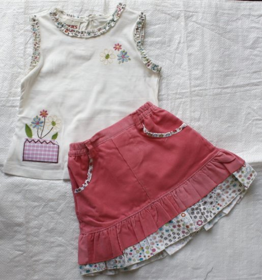 CARTER'S Girl's 2 Pieces Set with Matching Skirt (RM35.90)