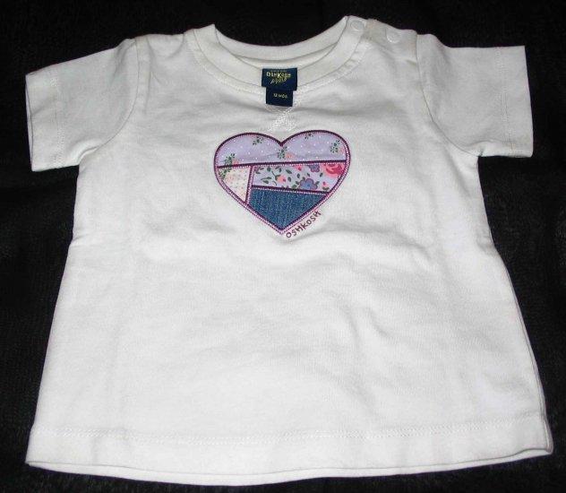 OSH KOSH White ' Hearts' T- Shirt  (RM31.90)