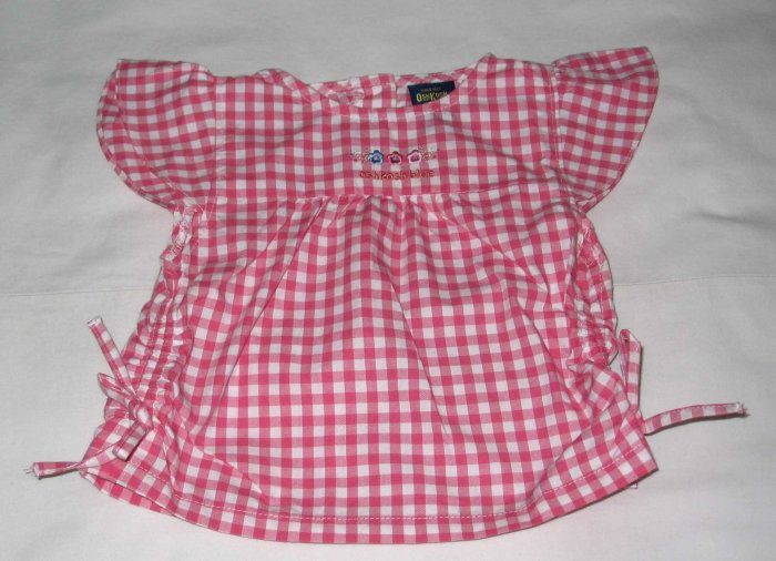 OSH KOSH Pink Chequered Blouse (RM34.90)