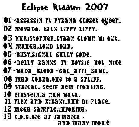 Eclipse riddim