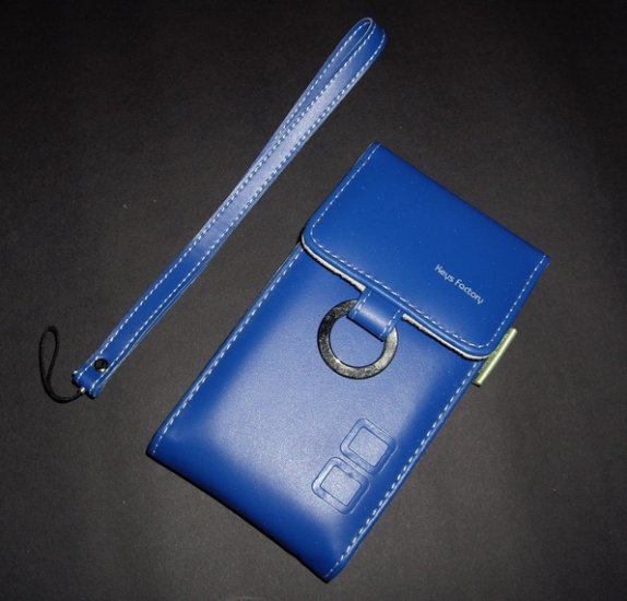Faux Leather Case for Nintendo NDSL Blue
