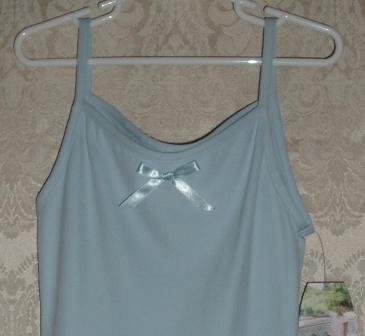 Danskin Skirted Camisole Leotard Dance Dress Blue Size L