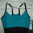 Girls Black and Teal Cotton Blend Camisole Leotard Size MC