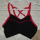 Toddler Girls Black and Red Camisole Bra Top Size S