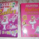 Glitter Ballet Tattoos and Stickers – Two Book Set