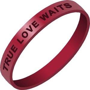 True Love Waits Silicone Bracelet Free Shipping