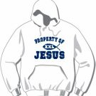 "Adult Christian ""Property of Jesus"" Hoodie Available in 3 colors"