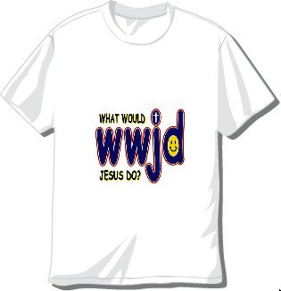 WWJD-T-shirt Available in 3 colors