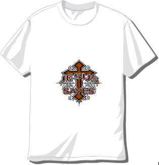 Jesus Saves Cross T-shirt Available in 3 colors