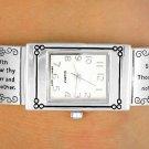 "Christian Silver Tone ""Ten Commandments"" Watch"