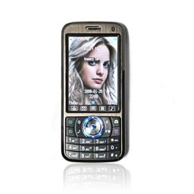 Unlocked A008 Quad Band Dual Sim Cell Phone in Black
