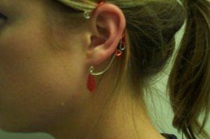 Red Elven Ear Cuff