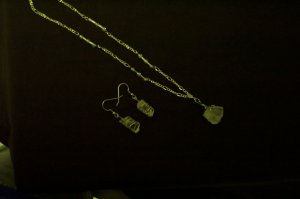 Quartz Crystal Elven Necklace and Earring Set