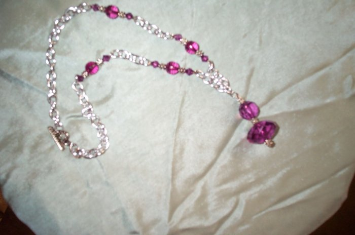 Medieval Renaissance Purple Necklace