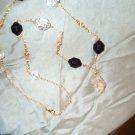 Black and Gold Quartz Crystal Necklace