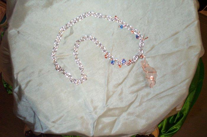 Elven Quartz Crystal Copper Necklace
