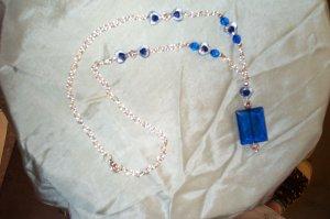 Medieval Renaissance Blue Necklace