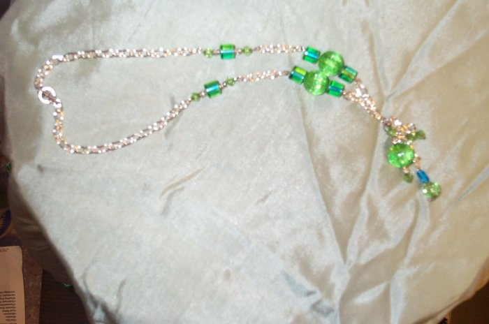 Blue Green Globe Necklace